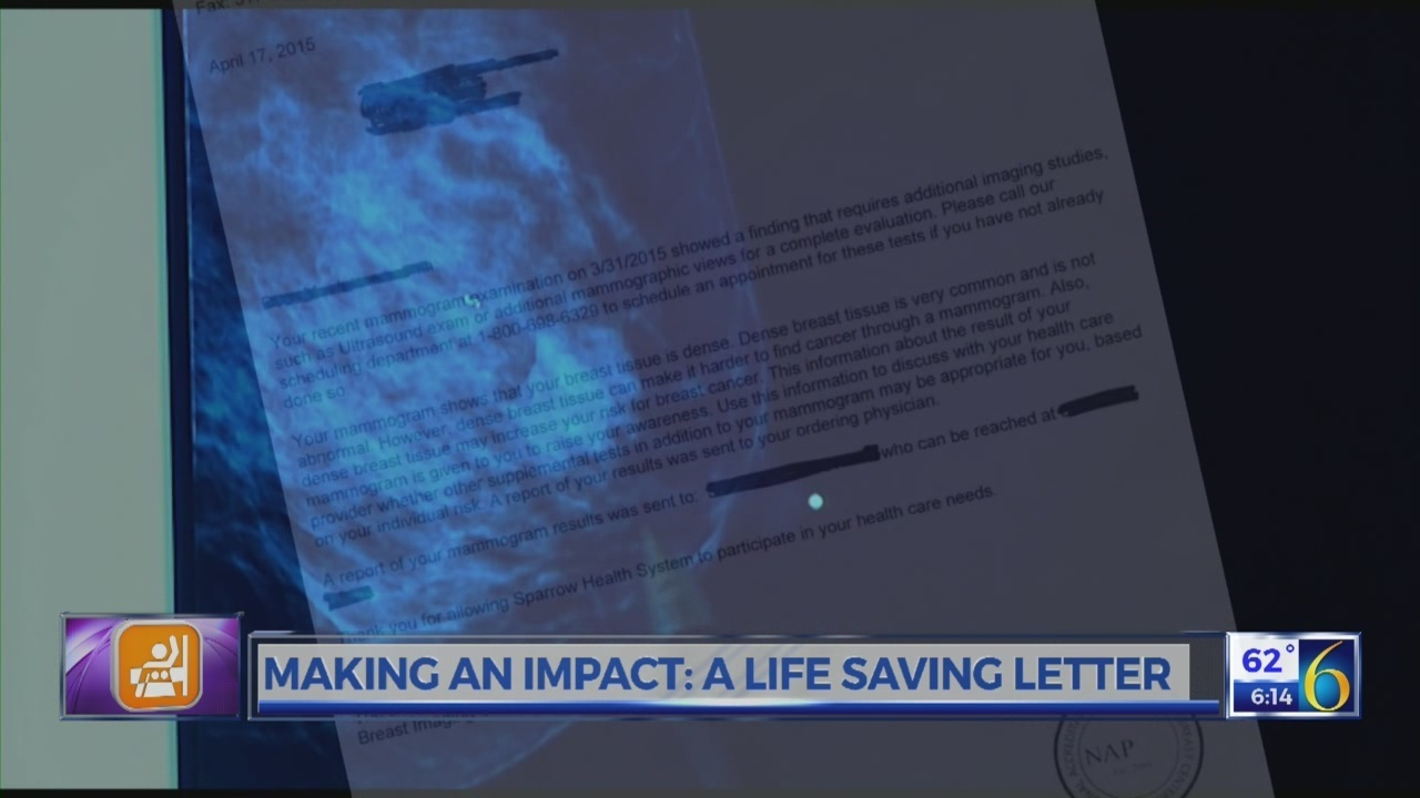 A life-saving letter: What dense breast tissue means for women
