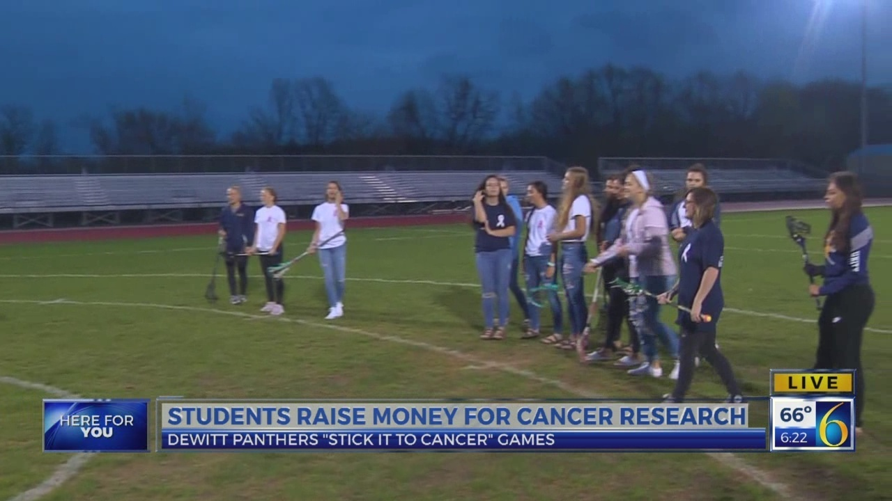 Dewitt Panthers Raise Money For Cancer Research