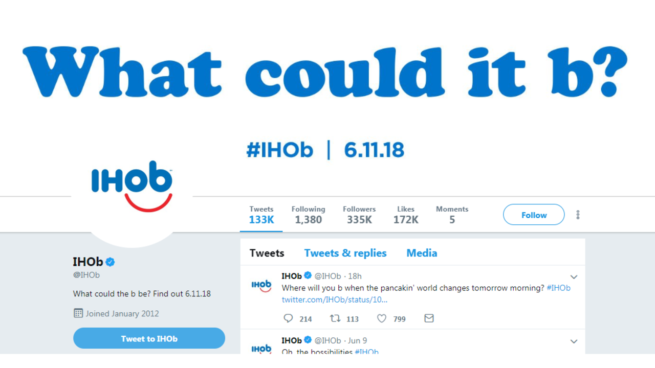 IHOP says it\'s changing name to IHOb.