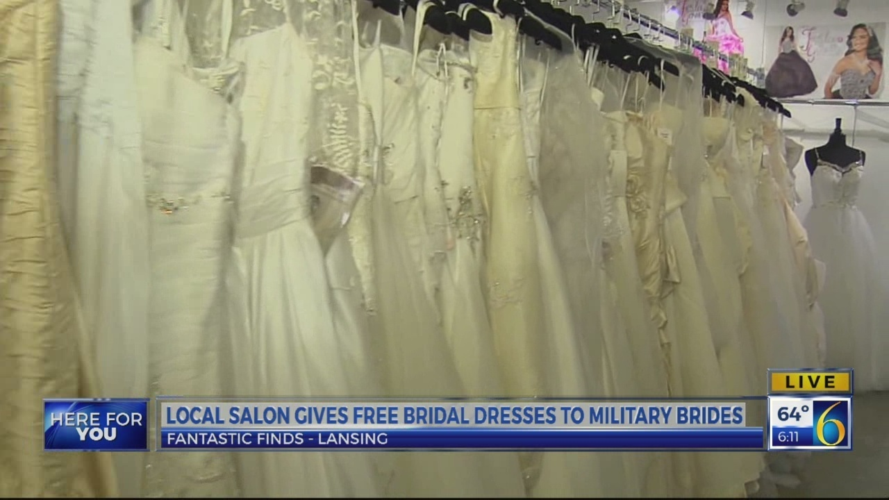 Lansing Shop Offers Free Wedding Dresses For Military Brides