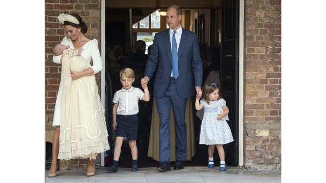 William, Kate's third child Prince Louis christened