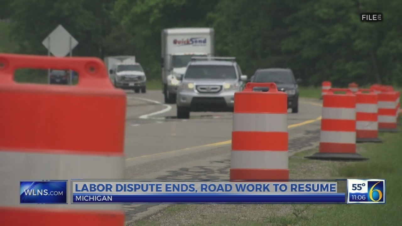 Labor dispute ends, road work to resume across Michigan