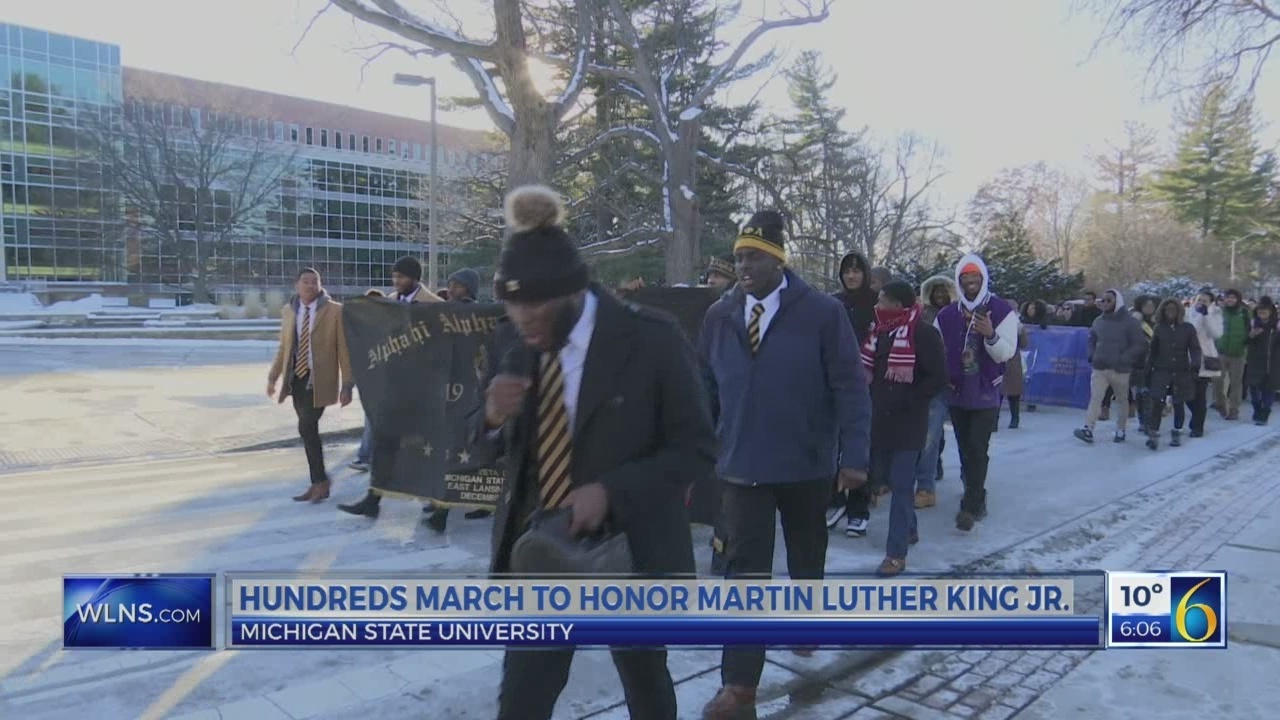MSU students hold march, rally to honor Dr. King