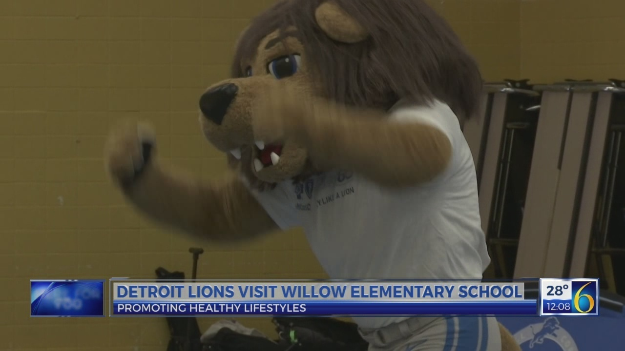 Detroit Lions Team Up With Lansing School For Good Health